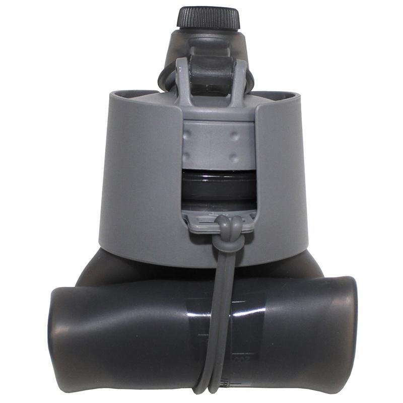 mfh trinkflasche faltbar grau silikon 0 5 liter bpa frei. Black Bedroom Furniture Sets. Home Design Ideas