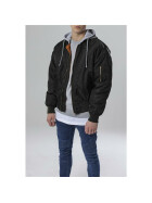Urban Classics Hooded Oversized Bomber Jacket, blk/gry