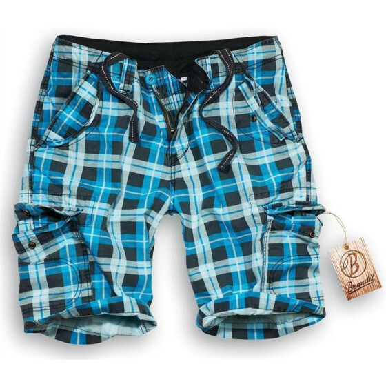 BRANDIT Iron Vintage Shorts, turquoise checkered