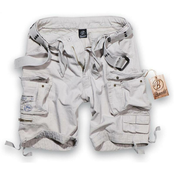 BRANDIT Savage Shorts, old white