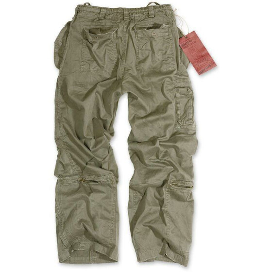 SURPLUS Infantry Cargo Trouser, stonewashed, oliv