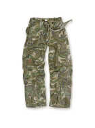 SURPLUS Infantry Cargo Trouser, stonewashed, woodland
