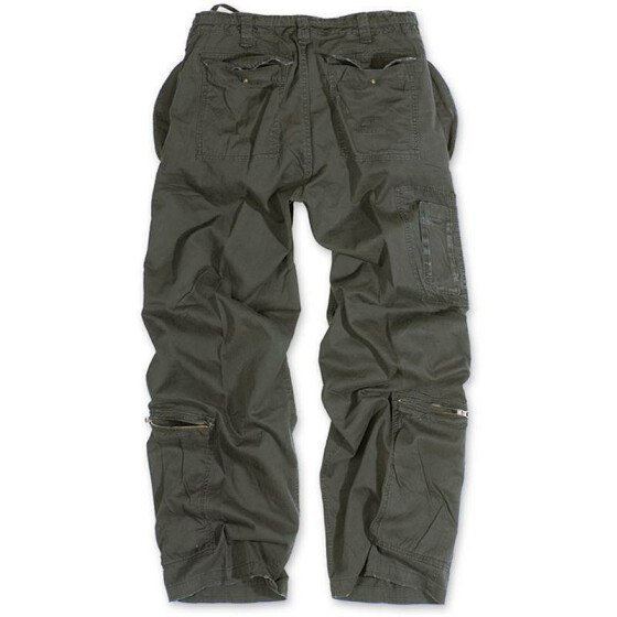 SURPLUS Infantry Cargo Trouser, stonewashed, black