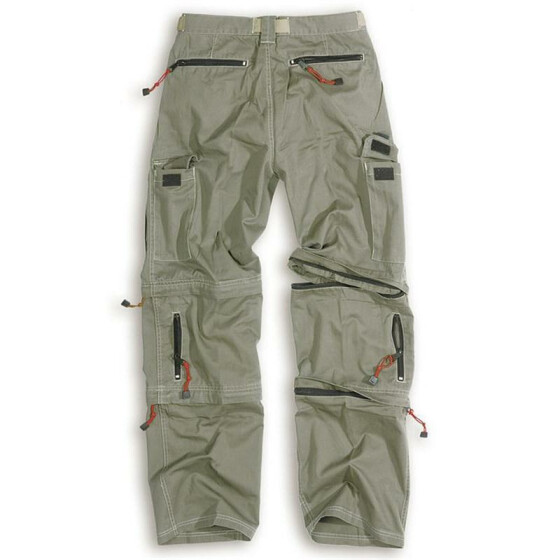 SURPLUS Trekking Trouser, 2 Bein-Zipper, oliv
