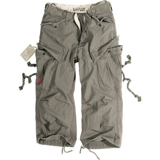 SURPLUS Engineer Vintage 3/4-Pants, oliv gewaschen