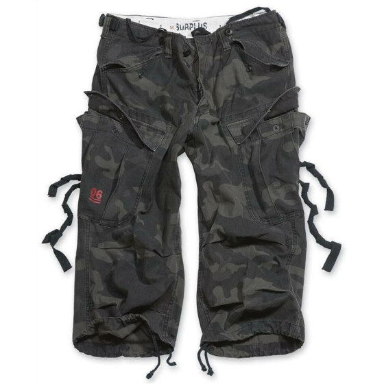 SURPLUS Engineer Vintage 3/4-Pants, blackcamo gewaschen