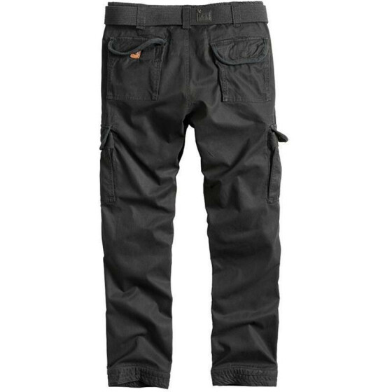 SURPLUS PREMIUM TROUSERS SLIMMY, black washed
