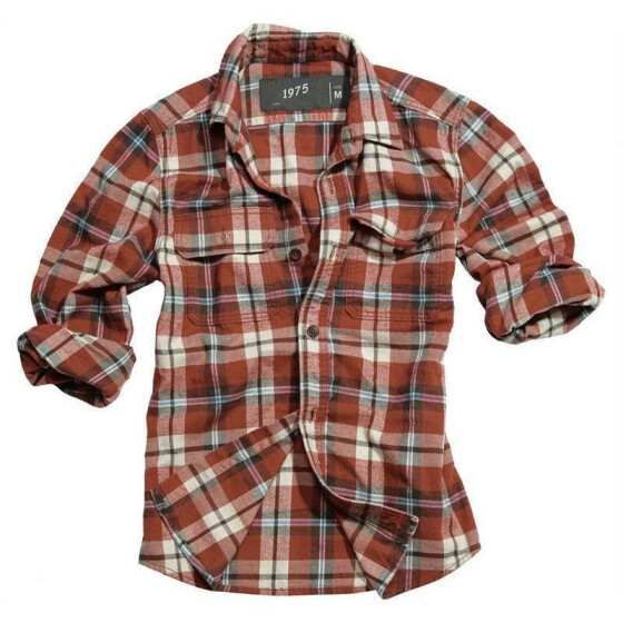 SURPLUS Wood Cutter Shirt, rot caro
