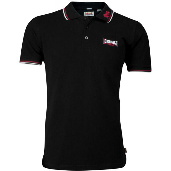 LONSDALE LP159 Poloshirt LION, black