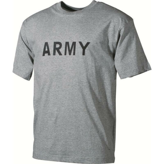 MFH T-Shirt, ARMY, grey