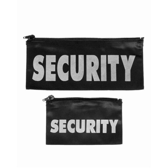 MILTEC Front + Backside-Patch SECURITY, mit Zipper, schwarz